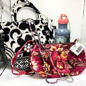 Vera Bradley Bundle: Purses, Water Bottle & Strap